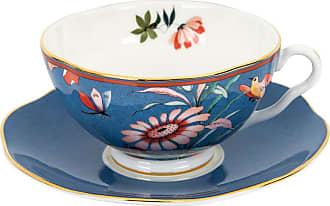 Wedgwood Paeonia Teacup & Saucer - Blue