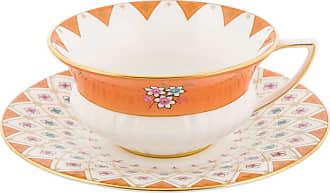 Wedgwood Wonderlust Teacup & Saucer - Peony Diamond