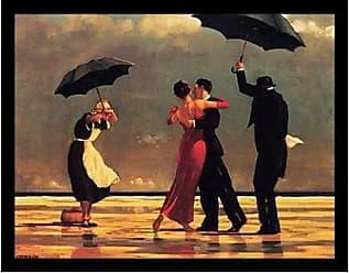 Buyartforless Buyartforless Framed Oversized - The Singing Butler by Jack Vettriano 34x26.75 Art Print Romantic Dancing with Umbrellas