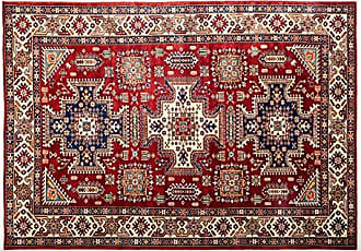 Solo Rugs Hand Knotted Area Rug 54 x 74 Red