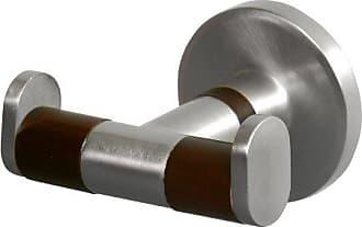 Bisk Madagaskar 00972 Doppelter Handtuchhaken Aus Gebürstetem Nickel Und  Holz, 7,5 X 7