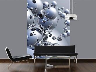 Ideal Decor Silver Orbs Vertical Wall Mural - DM413