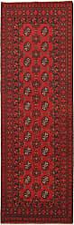 Nain Trading Handknotted Afghan Akhche Rug 81x28 Runner Dark Brown/Rust (Wool, Afghanistan)