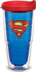 Trevis Tervis 1084021 Superman Tumbler with Emblem and Red Lid 24oz, Blue