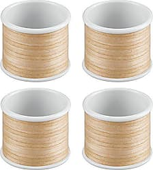 Dining Room-Pack of 4 Matte Black InterDesign Twillo Napkin Rings for Home Kitchen