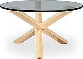 Kardiel CT-ASH Tripod Mid-Century Modern Coffee Table, Natural Wood