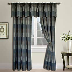 United Curtain Plaid Window Curtain Panel, 54 by 84-Inch, Taupe/Brown