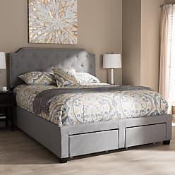 Baxton Studio Aubrianne Storage Platform Bed, Size: King,Queen - WA8024-GRAY-QUEEN