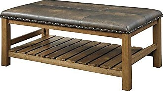 Convenience Concepts Designs4Comfort Tucson Ottoman Bench, Walnut