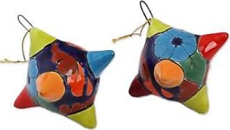 Novica Ceramic ornaments, Talavera Piñatas (pair)