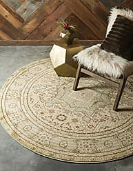 Unique Loom Palace Collection Traditoinal Geometric Classic Light Green Round Rug (3 x 3)