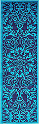 Unique Loom Metro Collection Modern Vintage Botanical Medallion Turquoise Runner Rug (2 x 7)