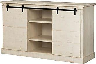 Sandberg Furniture Martin Svensson Home 90937 Laurel Bay 60 TV Stand, Antique White