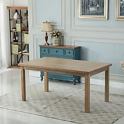 Round Hill Furniture Mod Urban Style 65 in. Rectangular Wooden Dining Table - T171