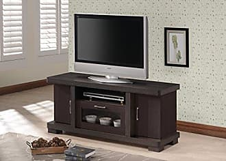 Wholesale Interiors Baxton Studio Wholesale Interiors Viveka Dark Brown Wood TV Cabinet with 2 Doors, 47