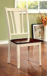 FURNITURE OF AMERICA Williams Home Furnishing CM3326WC-SC-2PK Dover Side Chair, Vintage White, Cherry