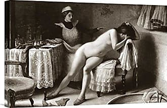 Bentley Global Arts Global Gallery Budget GCS-379401-22-142 Vintage Crying Nude Gallery Wrap Giclee on Canvas Wall Art Print