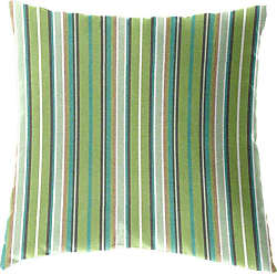 Cushion Source 17 x 17 in. Striped Sunbrella Indoor / Outdoor Throw Pillow Foster Surfside - E63AI-56049