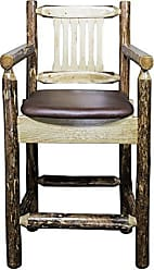 Montana Woodworks MWGCBSWCASSADD24 Glacier Country Collection Counter Height Captains Barstool, Saddle Upholstery