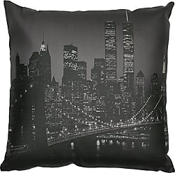 Oriental Furniture ORIENTAL Furniture Brooklyn Bridge at Night Pillow