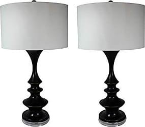 Urban Designs 7705674 Verano Tall Contemporary Black Table Lamp-Set of 2