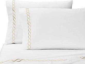 Kassatex Catena Bedding Collection Queen Pillowcase Set, Taupe