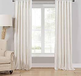 Duck River Textile Home Maison Newbury Linen Striped Window Curtain 2 Panel Drape Set, 40 x 108, Beige