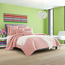 Five Queens Court Odessa Stonewash Contemporary Coverlet, Pink, King