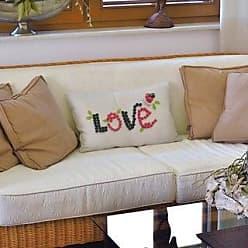 ArtVerse Katelyn Smith 18 x 18 Spun Polyester Rhode Island Love Pillow
