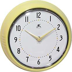 Infinity Instruments Retro 9.5-Inch Wall Clock Orange - 10940-ORANGE