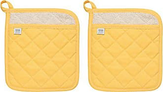 Now Designs Superior Potholders, Set of Two, Lemon Yellow
