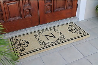 First Impression Hayley Monogrammed Entryway Double Door Mat - A1HOME200104-A