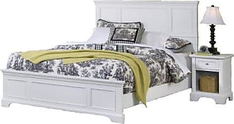 Home Styles Naples White King Bed and Night Stand by Home Styles