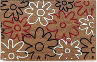 First Impression Qiana Flowers Entryway Flocked Outdoor Door Mat - PTF2006