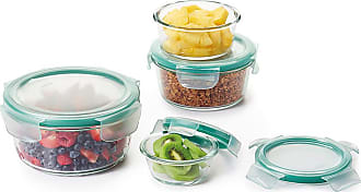 Oxo Good Grips 8 Piece SNAP Glass Round Container Set
