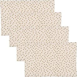 Now Designs Placemats, Set of Four, Gala Gold Polka Dot Print