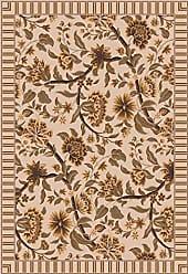 Milliken Carpet 4000030914 Pastiche Collection Vachell Rectangle Area Rug, 78 x 109, Ecru
