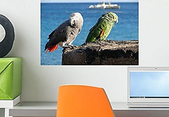 Wallmonkeys Parrots of Lanzarote Wall Decal Peel and Stick Graphic WM313389 (18 in W x 12 in H)