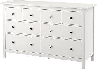 IKEA HEMNES, Kommode Mit 8 Schubladen, Weiß Gebeizt