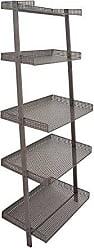 Deco 79 65682 Rectangular Matte Gray Iron Five-Tier Shelf