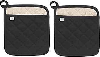 Now Designs Superior Potholders, Set of Two, Black
