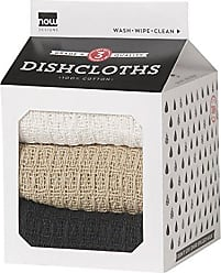Now Designs Milk Carton Dishcloth, Black/Oyster/White, Set of 3