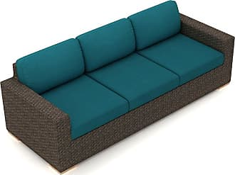 Harmonia Living Outdoor Harmonia Living Arden Sofa with Sunbrella Cushion Spectrum Peacock - HL-ARD-CH-S-PC