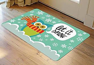 Bungalow Flooring Novelty Let It Snow Owls Accent Mat by Valentina, 23 x 36, Multicolor