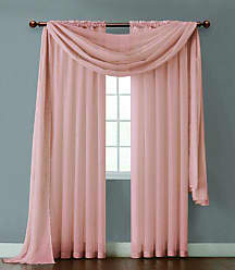 VCNY Home VCNY INF-PNL-108-IN-OI Infinity Sheer Panel, 55 by 108-Inch, Coral