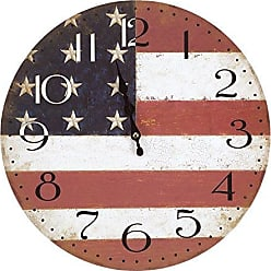 Yosemite Home Decor Yosemite Home Decor CLKA7189 Circular Iron Framed Distressed Wall Clock with Glass, multi-color