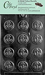 CybrTrayd N022-6BUNDLE Anchor Mints Chocolate Candy Mold with Exclusive Copyrighted Chocolate Molding Instructions
