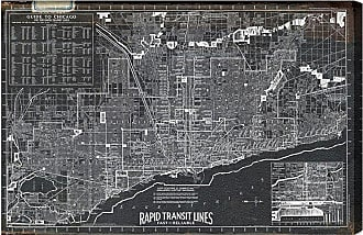 Hatcher & Ethan Chicago Rapid Transit Lines 1926 Canvas Art - HE10804_60X40_CANV_XXHD_HE