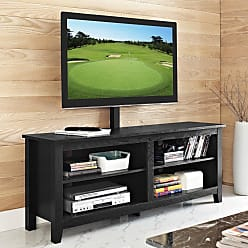 Walker Edison 58 in. Wood TV Console with Mount - HN58CSPBL-MT