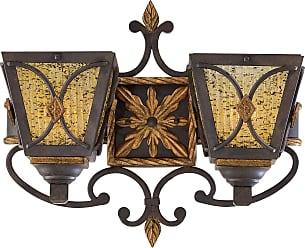 Metropolitan N6042-159 Two Light Wall Sconce with Butterscotch Swirl Piastra Glass